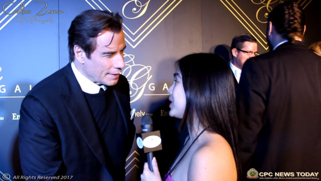John Travolta, Celebrities Interviewed at City Gala 2017