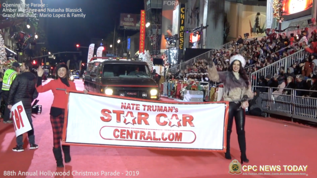 Actresses Amber Martinez and Natasha Blasick open the 88th Annual Christmas Parade