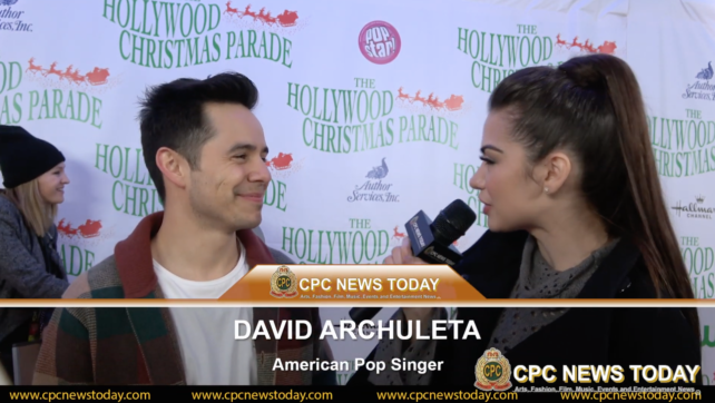 David Archuleta Interviewed At The 88th Annual Hollywood Christmas Parade