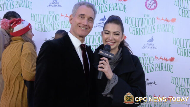 John Goodwin Interviewed At The 88th Annual Hollywood Christmas Parade